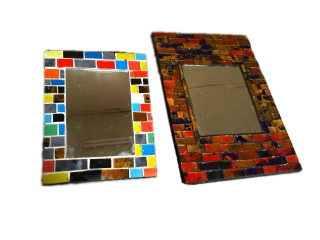 Miroirs forme carre en mosaïque.