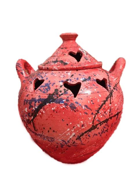 Incense Pot - Hearts