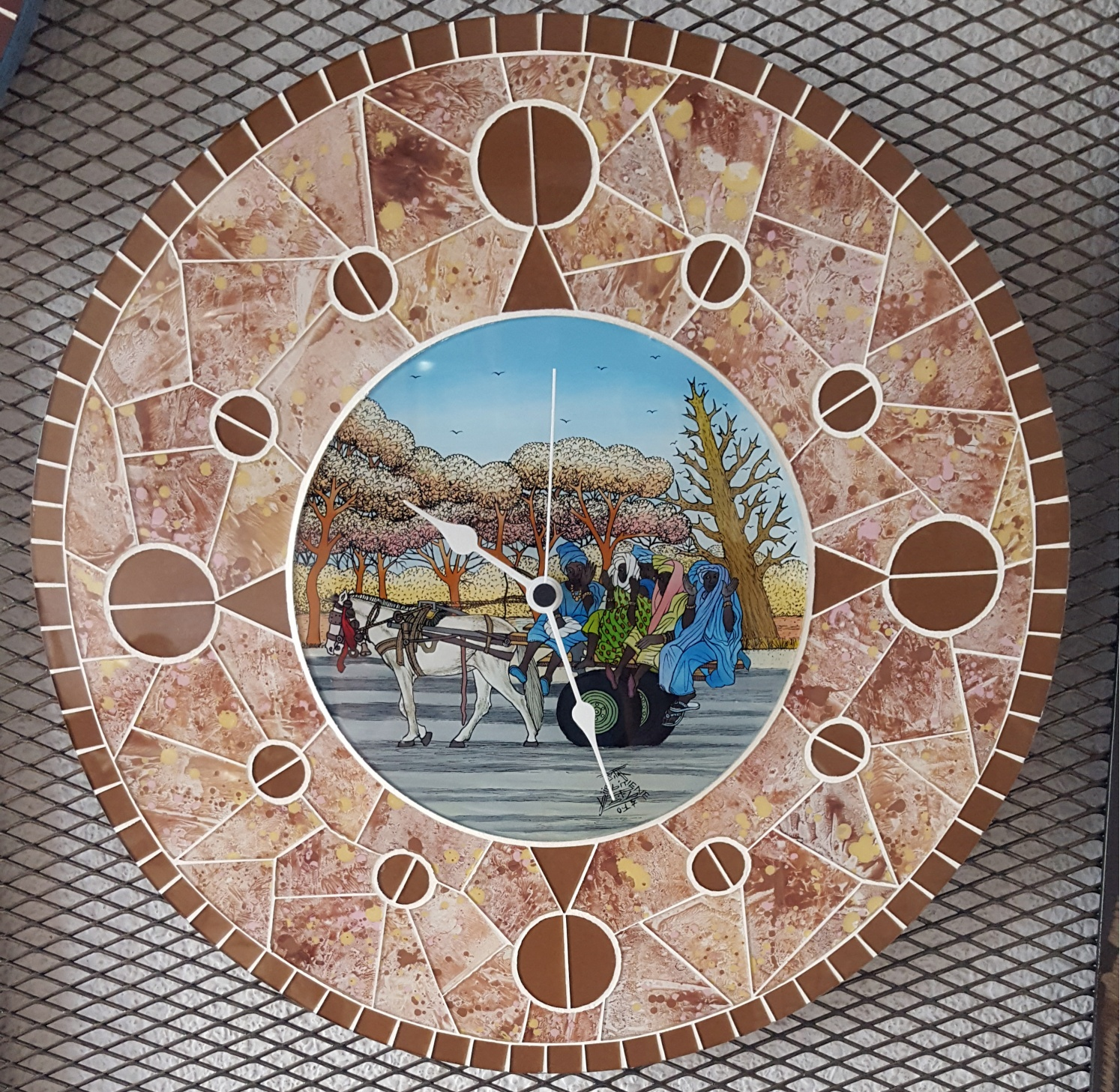 Horloge en mosaïque Grand Modèle