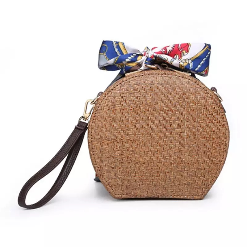 Handmade Dark Brown Rattan bag