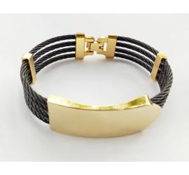 Magnifique Bracelet en Acier et or Plaqué