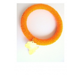 Woven and braided bracelet