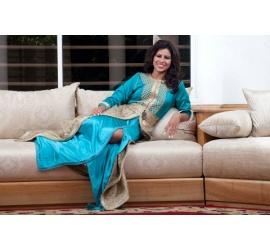 Robe marocaine bleue