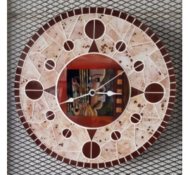 Horloge en mosaïque Petit Modèle