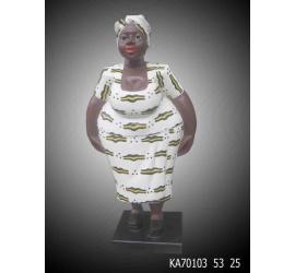 Statues Femme Awlaba  en bois peint
