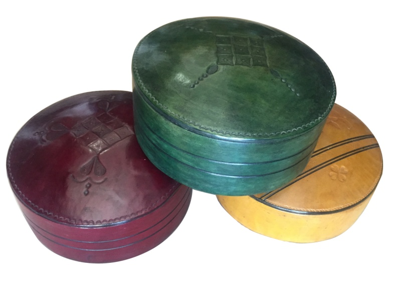 Round Tuareg colored Jewelry box