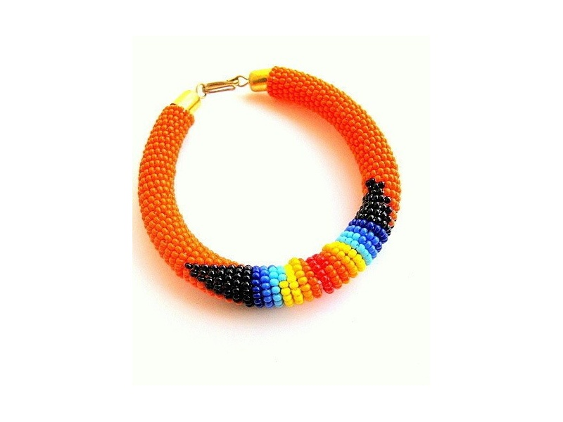 Maasai woven and braided bracelet
