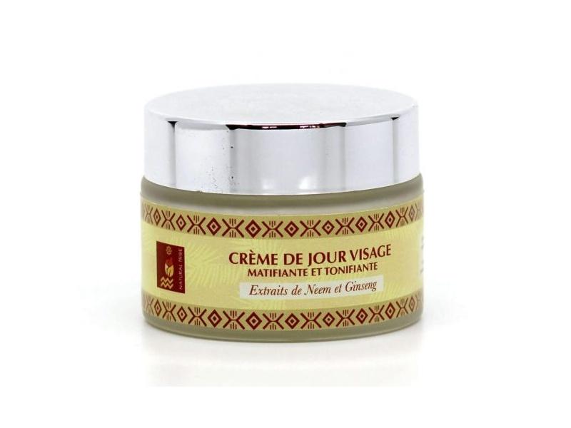 Crème de Jour (Matifiante, Tonifiante, Protection UV) aux extraits de Neem & Ginseng