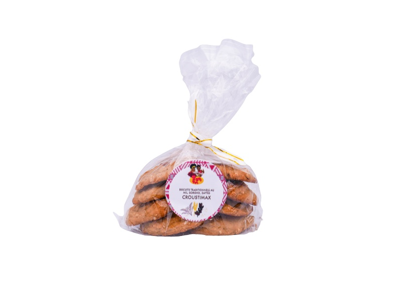Traditional cookies with millet, sorghum, croustimax dates