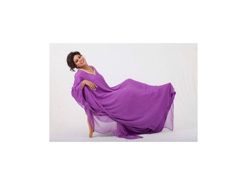 Moroccan Dress-Purple