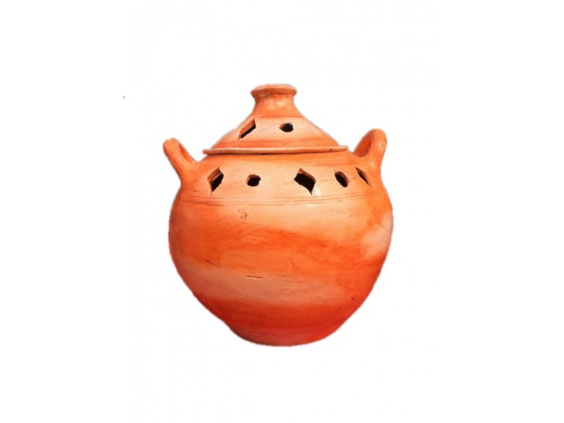 Orange Incense Pot
