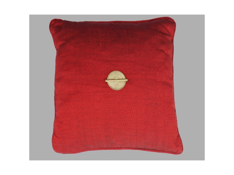 "Red woven loincloth and Baoule peas cushion "" Marrakech"""