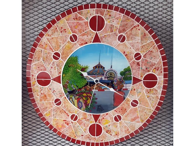Large Model mosaic clock