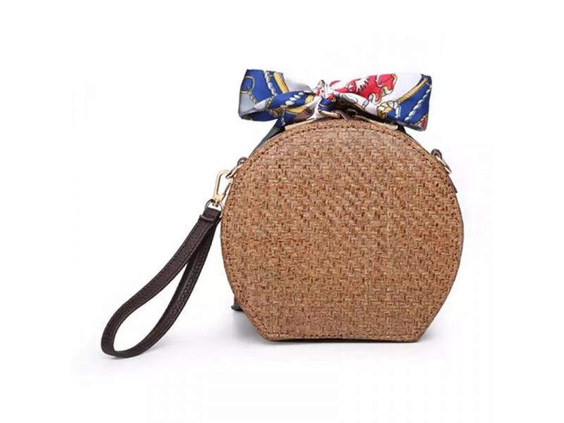 Handmade Dark Brown Rattan bag
