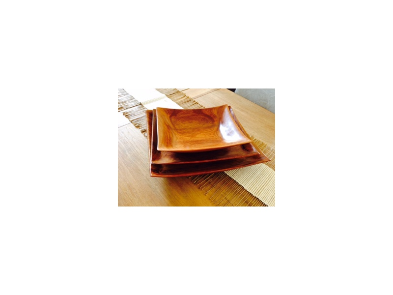 Square Wooden Plates
