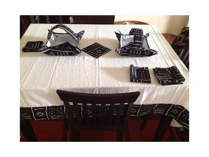 Black & White Tablecloth/ bread basket